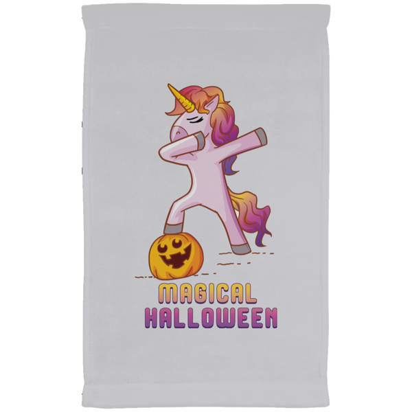 Dabbing Halloween Unicorn Kitchen Towel, Gifts for Pumpkin Candy Treat Scary Trick