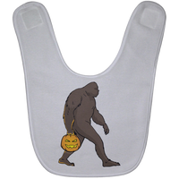 Halloween Bigfoot Sasquatch Pumpkin Baby Bib, Gifts for Costume Party