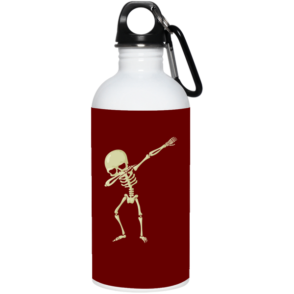 Halloween Skeleton Dabbing Stainless Steel Water Bottle, Gifts for Trick Treat Skull Party