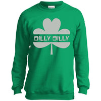 Dilly Dilly St. Patrick's Day Shamrock Sweatshirt for Men Women Boys Girls