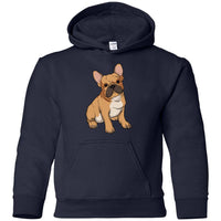 French Bulldog Hoodie Sweatshirt, Funny Gift for Cute Dog Lovers