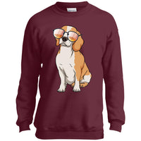 Beagle Dog Sunglasses Funny Sweatshirt, Gifts for Dog Puppy Lovers