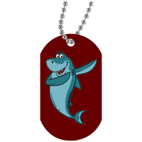 Shark Dog Tag, Dabbing Gifts for Fishing Lovers