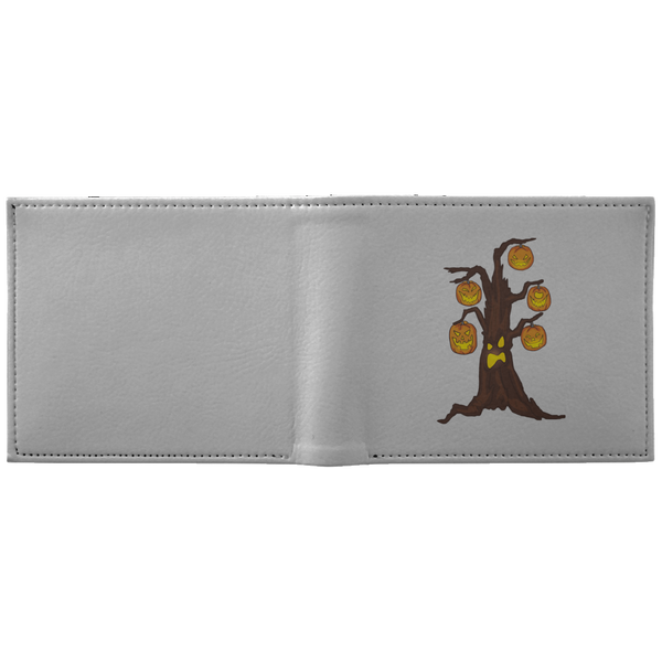 Halloween Pumpkin Tree Wallet, Gifts for Candy Treat Scary Trick