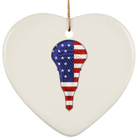 Lacrosse USA Flag Christmas Tree Ornaments, Gifts for Lacrosse Players Sports Lovers
