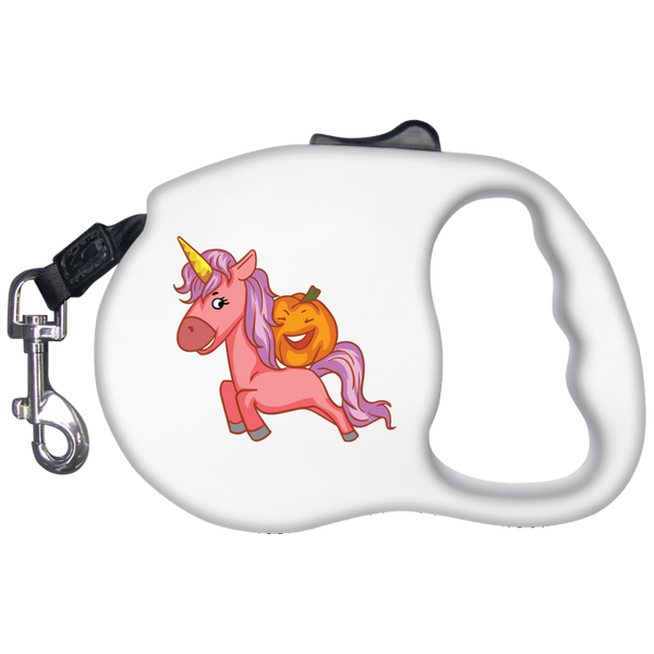 Halloween Unicorn Pumpkin Pet Dog Leash, Gifts for Trick Treat Party