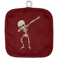 Halloween Skeleton Dabbing Pot Holder, Gifts for Trick Treat Skull Party
