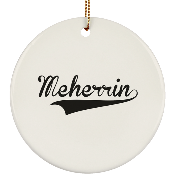 MEHERRIN Christmas Ornament Custom City Name Personalized Decorations