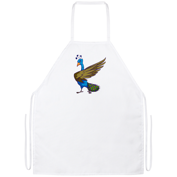 Peacock Kitchen Apron, Bird Lover Gifts