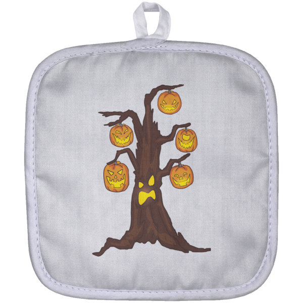 Halloween Pumpkin Tree Pot Holder, Gifts for Candy Treat Scary Trick