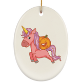 Halloween Unicorn Pumpkin Christmas Tree Ornaments, Gifts for Trick Treat Party