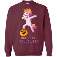 Dabbing Halloween Unicorn Sweatshirt, Gifts for Pumpkin Candy Treat Scary Trick