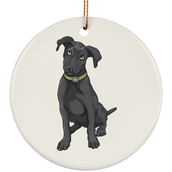 Black Labrador Retriever Dog Ornament Christmas Tree Ornaments Holiday Decor