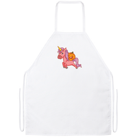 Halloween Unicorn Pumpkin Kitchen Apron, Gifts for Trick Treat Party