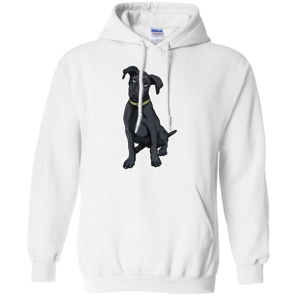 Black Labrador Retriever Dog Hoodie Sweatshirt Boys Girls Men Women Kids Youth
