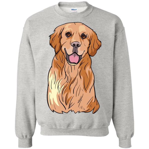 Golden Labrador Retriever Sweatshirt, Cute Gift for Dog Lovers