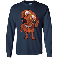 Dachshund Long Sleeve Shirt, Cute Gift for Cute Dog Lovers