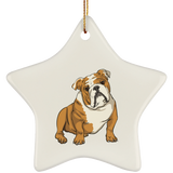 Bulldog Dog Ornament Christmas Tree Ornaments Holiday Decor