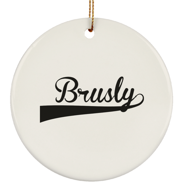 BRUSLY Christmas Ornament Custom City Name Personalized Decorations
