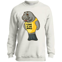 Manatee Come At Me Bro Commercial Novelty Sweatshirt for Men Women Boys Girls