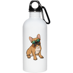 French Bulldog Sunglasses Funny Stainless Steel Water Bottle, Gifts for Dog Puppy Lovers