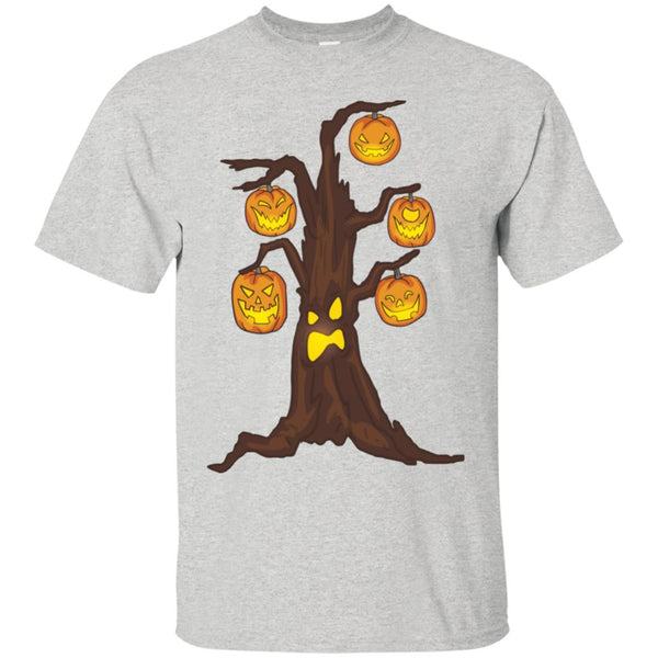 Halloween Pumpkin Tree Shirt, Gifts for Candy Treat Scary Trick