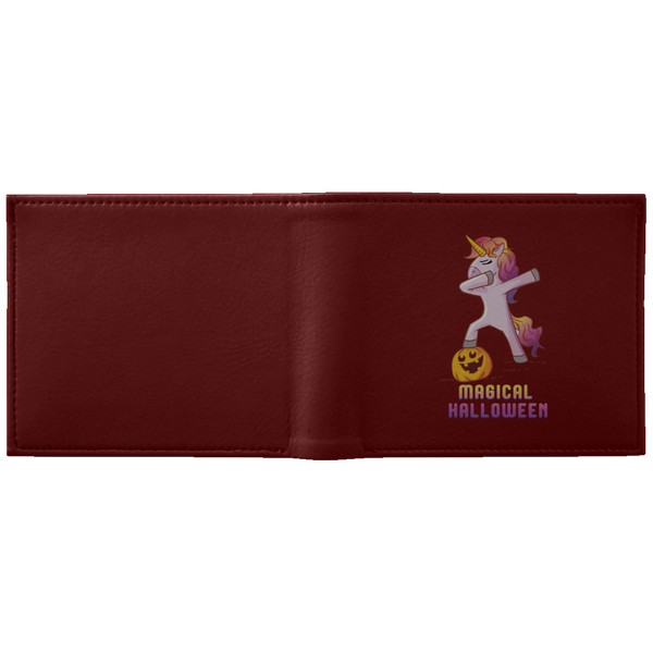 Dabbing Halloween Unicorn Wallet, Gifts for Pumpkin Candy Treat Scary Trick
