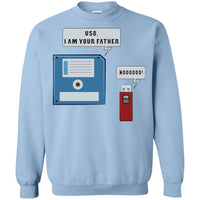 USB Floppy Disk Funny Nerd Geek Unisex Crewneck Sweatshirt for Adult Men Women