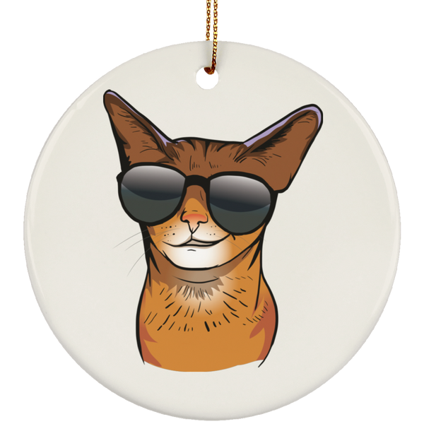 Abyssinian Cat Ornament Christmas Tree Ornaments Holiday Decor