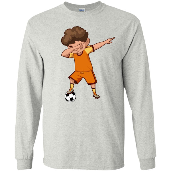 Soccer Shirt for Boys Men Women Funny Dabbing Dance Soccer Long Sleeve T Shirt