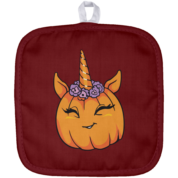 Unicorn Pumpkin Halloween Pot Holder, Gifts for Trick Treat Costume Party