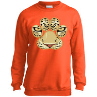 White Tiger Paw Face Crewneck Sweatshirt for Men Women Boys Girls Kids
