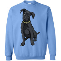 Black Labrador Sweatshirt, Funny Gift for Cute Dog Lovers