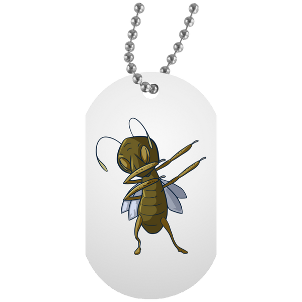 Grasshopper Dog Tag, Dabbing Gifts for Insect Bug Lovers