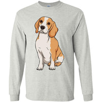 Beagle Long Sleeve Shirt, Funny Gift for Cute Dog Lovers