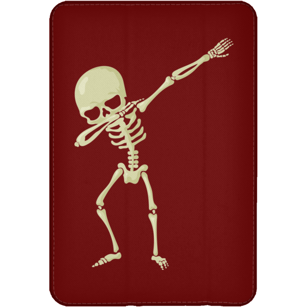 Halloween Skeleton Dabbing Flip Case for iPad, Gifts for Trick Treat Skull Party