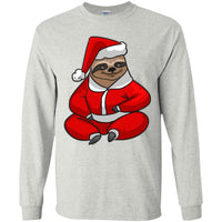 Santa Sloth Long Sleeve Shirt, Christmas Gifts for Sloth Lovers