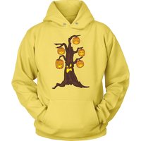 Halloween Pumpkin Tree Hoodie Sweatshirt, Gifts for Candy Treat Scary Trick