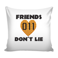 Friends Don't Lie Stranger Heart Shaped Waffle Eleven Throw Pillow Covers for Women Men Kids
