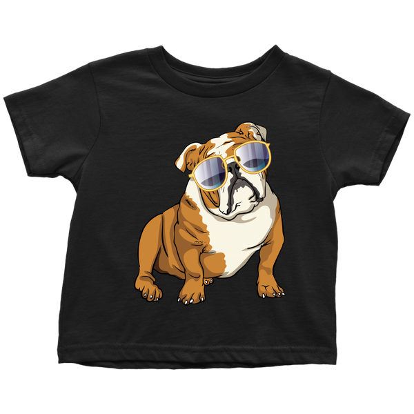 Bulldog Shirt for Toddlers, Cute Gift for Cute Dog Lovers