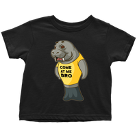 Manatee Come At Me Bro Commercial Novelty Toddler T Shirt for Boys Girls Kids