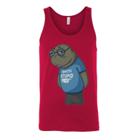 Manatee Im With Stupid Commercial Novelty Tank Top for Men Women