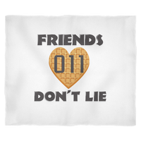 Friends Don't Lie Stranger Heart Shaped Waffle Eleven Warm Fleece Blanket for Women Men Kids