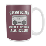 Hawkins Middle School Funny White Coffee Mugs for Men Women