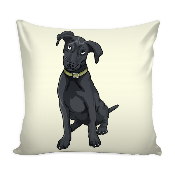 Black Labrador Pillow Covers, Funny Gift for Cute Dog Lovers
