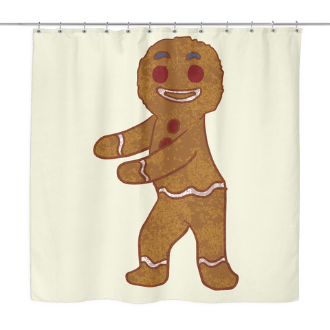 Gingerbread Man Shower Curtain Floss Dancing Gifts For Dance Lovers