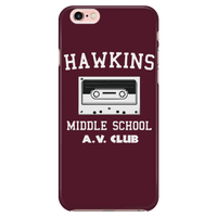 Hawkins Middle School Cassette iPhone Smartphone Case for Women Men Kids