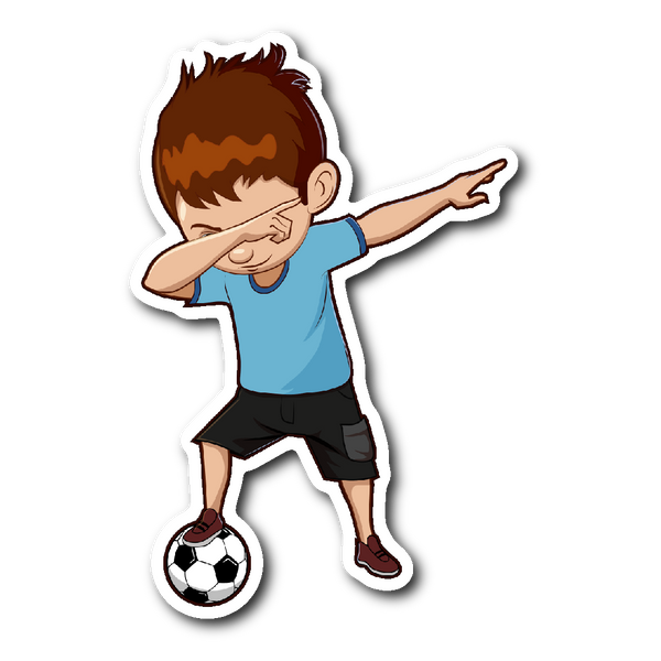 Funny Dabbing Dance Soccer Sticker Car Bumper Decal Stickers for Boys Men Women
