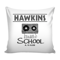 Hawkins Middle School Cassette Throw Pillow Covers for Women Men Kids