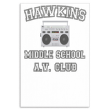 Stranger Hawkins Middle School Rectangle Wall Canvas for Bedrooms Office Living Rooms Things A V Club